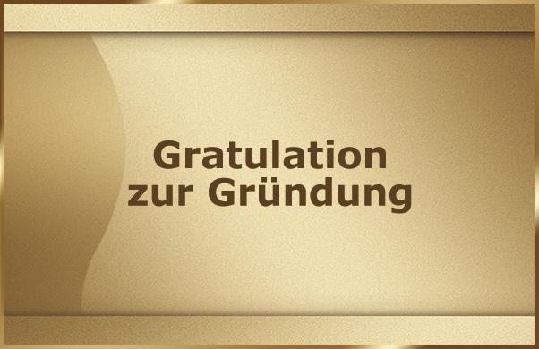 Gratulation zur Gruendung