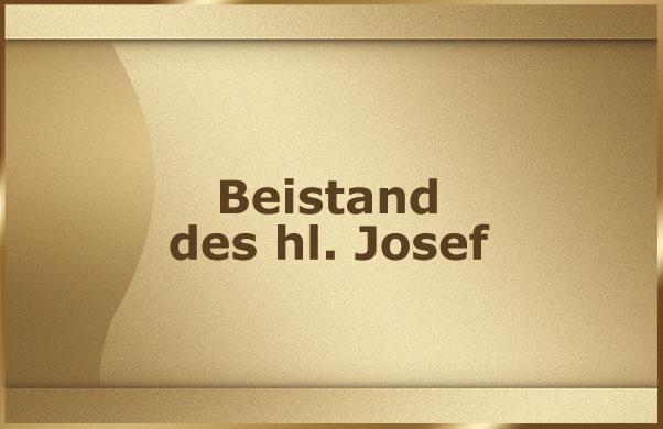 Beistand des hl. Josef