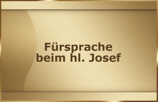 Fuersprache beim hl. Josef